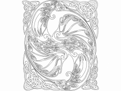 Dragon design dxf File