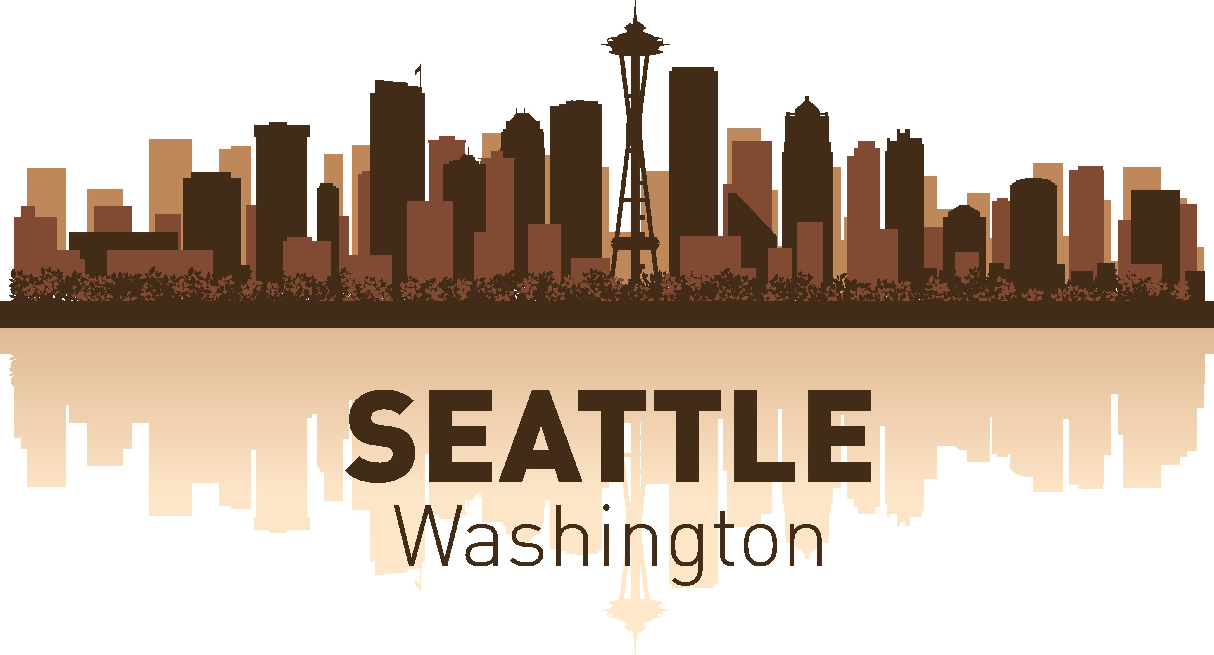 Seattle Skyline Free Vector Cdr Download 3axis Co