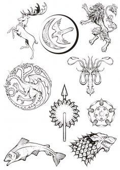 Game Of Thrones Fan Art Vector CDR File