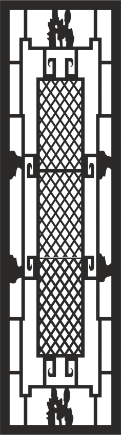 Iron Window Grill Design Vector CDR File