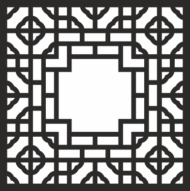 Geometric Pattern Square Vector CDR File