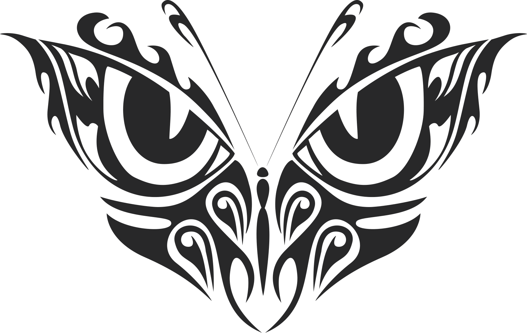 tribal butterfly stencil