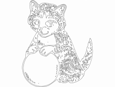 Gato 4(Cat) dxf File
