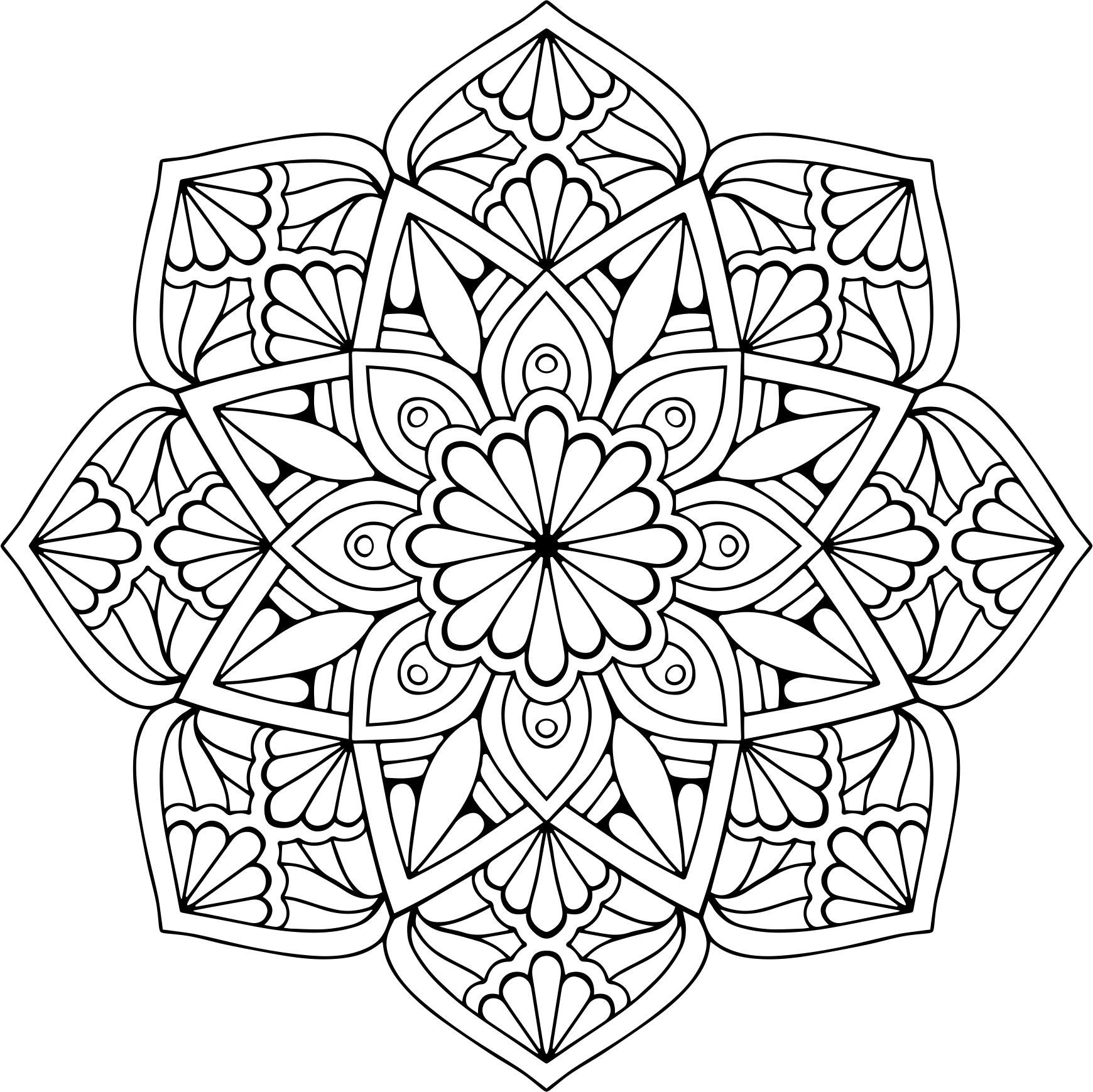 Mandala Floral Vector (.eps) Free Vector Download - 3axis.co