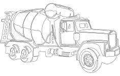 Concrete Mixer Truck DXF File