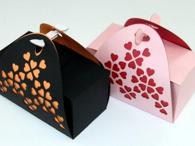 Vector laser gift box