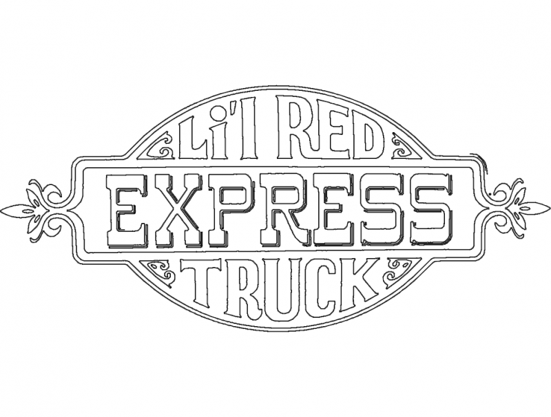 Lil Red Express Truck Decal Dxf File Free Download 3axis Co