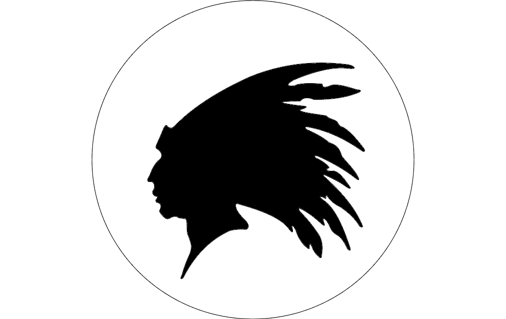 Indian Head Outline Dxf File Free Download 3axis Co