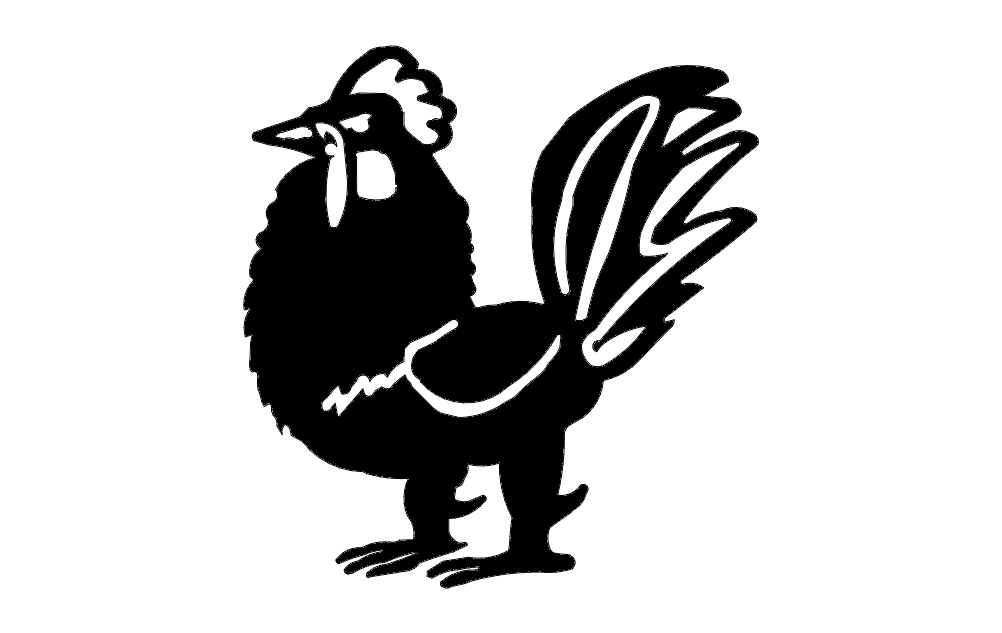 rooster vector dxf file free download