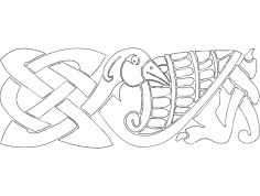 Bird design dxf File