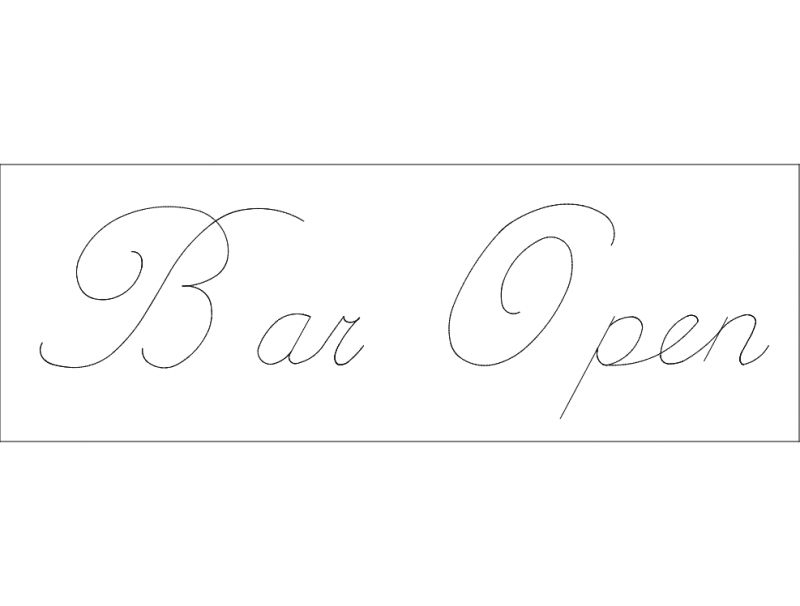Bar open dxf File Free Download - 3axis co