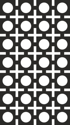 Seamless Square Circle Pattern Vector CDR File
