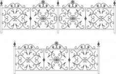 Decorative Wroughtiron Fence Or Railing CDR File