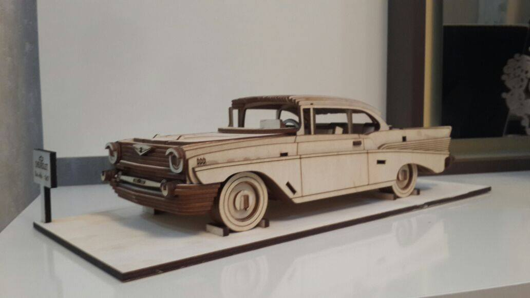 Chevrolet Bel Air 1957 Vector file for laser cutting CNC