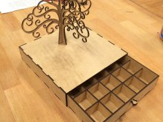 Tree of Life Jewelry Box DXF File