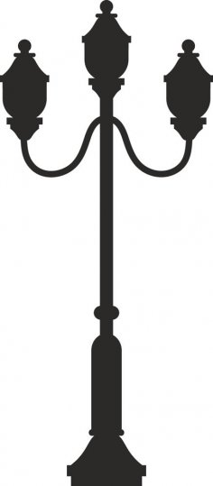 Street Lamp Silhouette dxf File