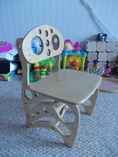 Children Chair DIY 3D Puzzle CDR File