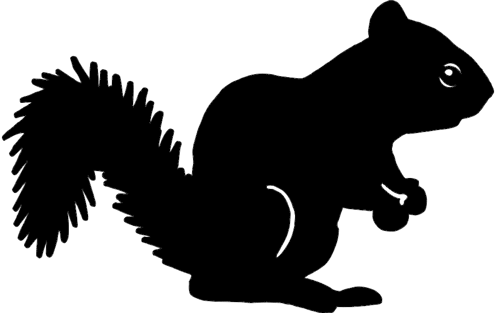 Squirrel Silhouette Dxf File Free Download 3axis Co