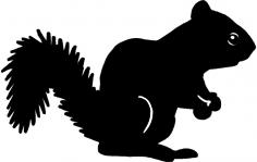 Squirrel Silhouette dxf File