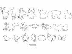 животные детские dxf File