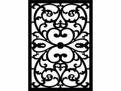 çiçek Desen seperatör dxf File