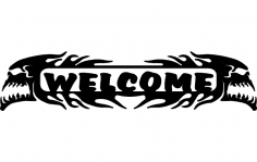 Welcome Skulls dxf File