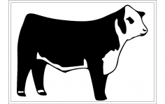 Hereford cattle dxf File