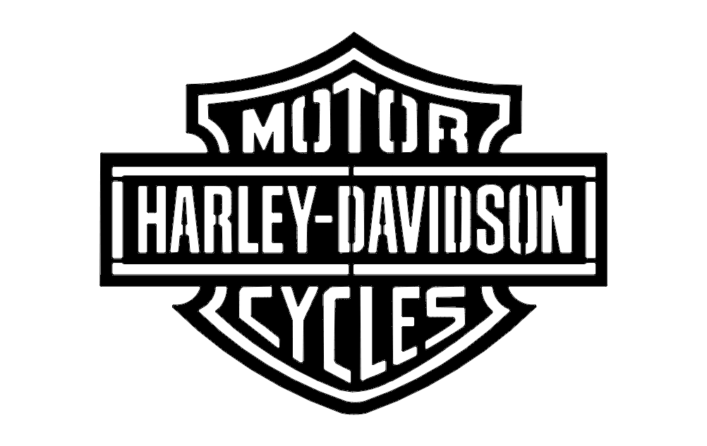 Harley D Logo dxf File Free Download - 3axis co