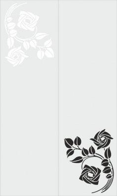 Sandblast Floral Design CDR File
