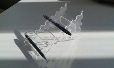 Penholder 3mm Plexi dxf File