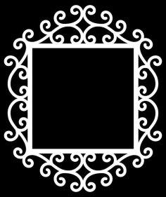 Swirly Frame 3 By Bird dxf File