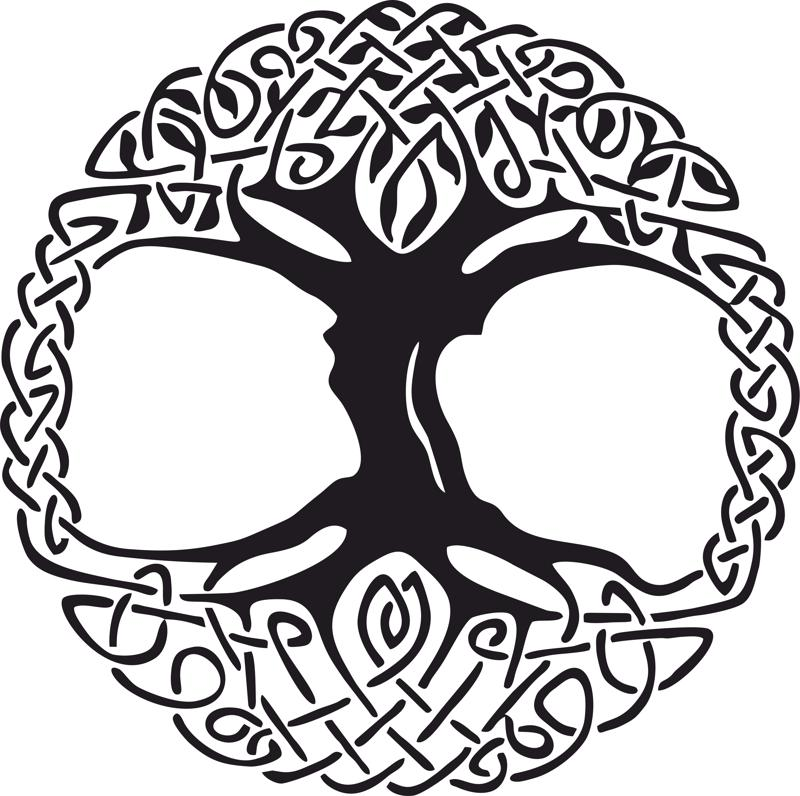Celtic Tree Of Life Vinyl Window Sticker Vector Free Vector Cdr Download 3axis Co