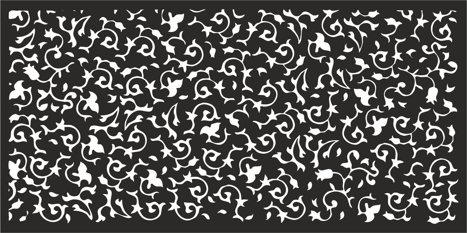 Laser Cut Flower Pattern Decorative Panel Free Vector Cdr