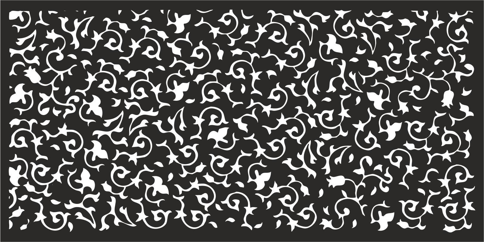 Laser Cut Flower Pattern Decorative Panel CDR File