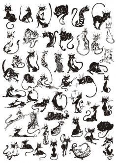 Cats Vector Set CDR File