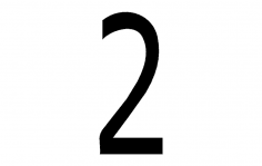 Number 2 dxf File