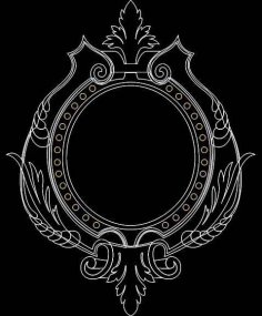 Mirror Frame 0550 dxf File