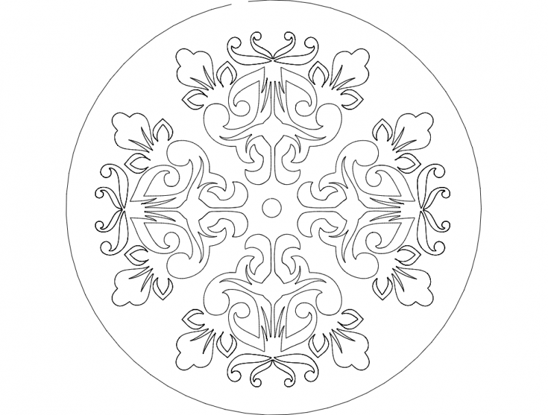 Mandala 8 dxf File Free Download - 3axis co