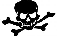 Skull silhouette vector dxf File