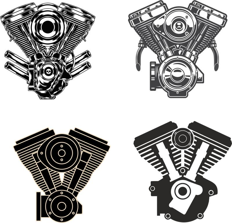 Motorcycle Engine vectors CDR File