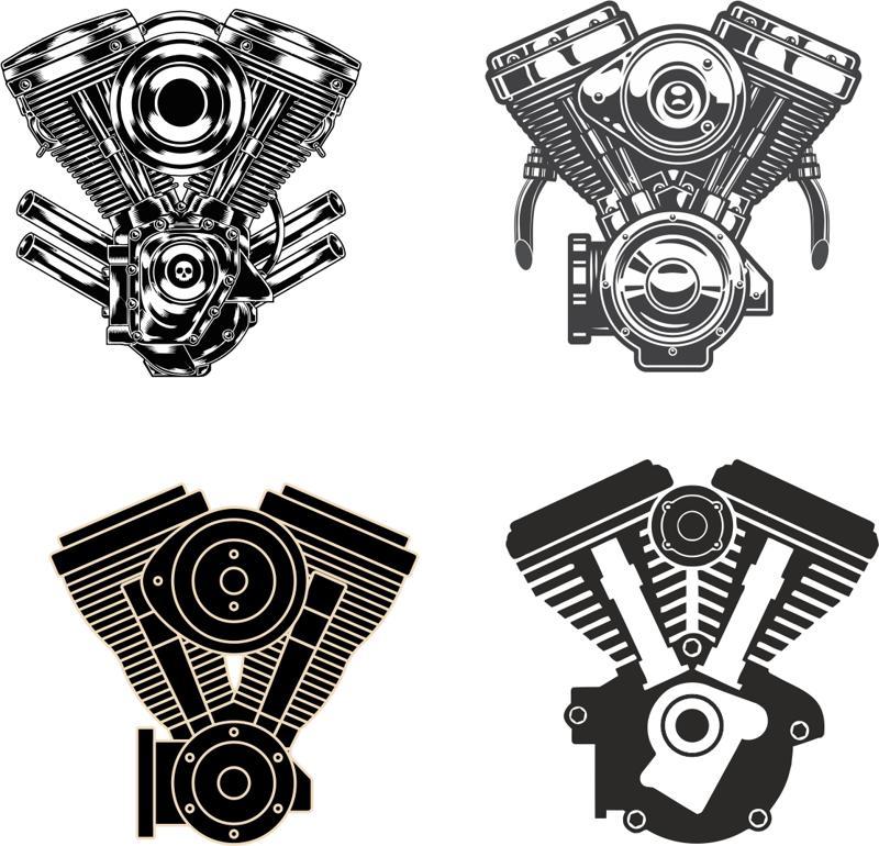 Motorcycle Engine vectors Free Vector cdr Download - 3axis.co