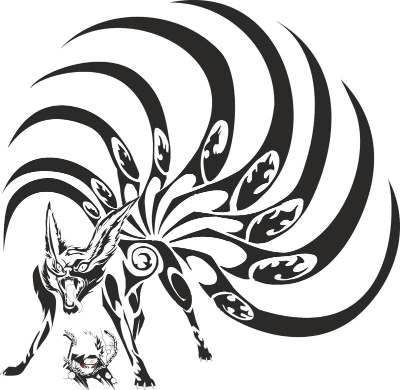 Naruto Kyubi Vector Art Free Vector cdr Download - 3axis.co