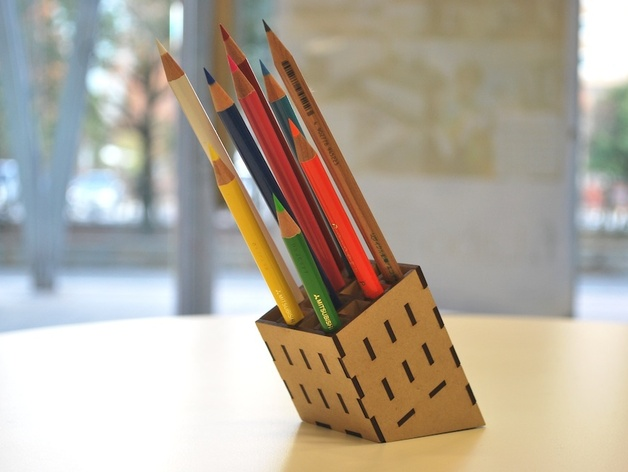 Mdf Pencil Stand Laser Cut Pdf File Free Download 3axis Co
