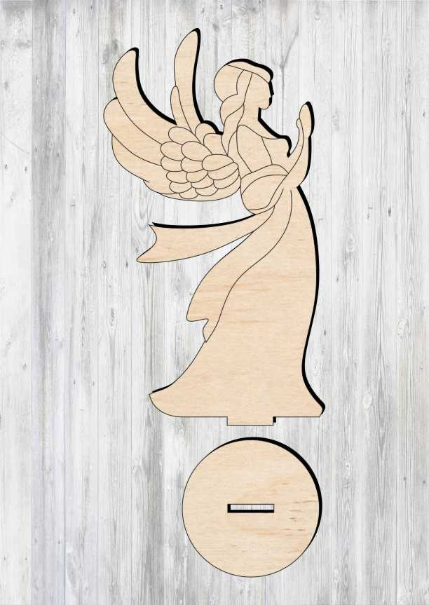 Angel laser cut file.Laser Christmas ornament Ai and PDF Angel Svg laser cut file SVG Angel svg 33 different angel drawings Cdr DXF