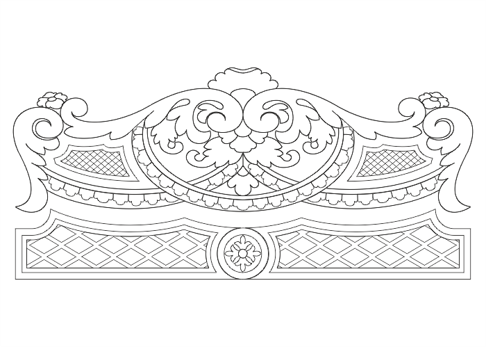 Bed Headboard Design Cnc Router Free Vector Cdr Download