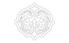 Decoration dxf file
