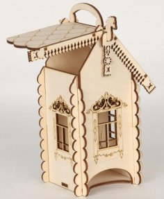 Laser Cut Engraved Tea House With Horses 4mm Free Vector