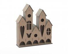 Laser Cut Plywood Tea House Free Vector