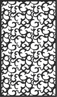 Black Seamless Lace Pattern CDR File