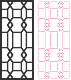 Beautiful living room partition pattern DXF File
